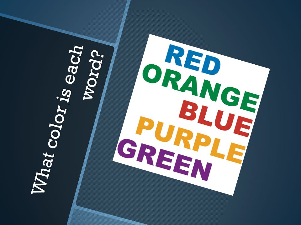What color is each word