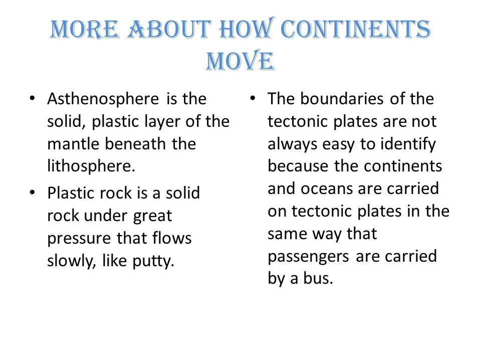 Plate Boundaries The three areas where plate boundaries may be located are in the middle of the ocean floor, around the edges of continents, and within continents.