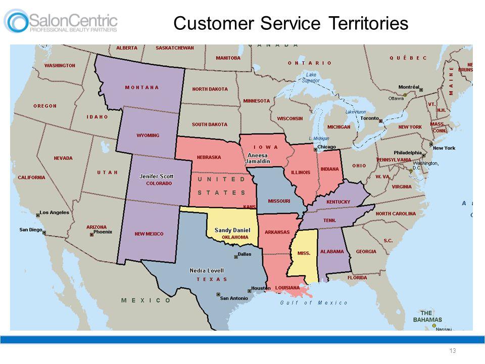 Customer Service Territories 13