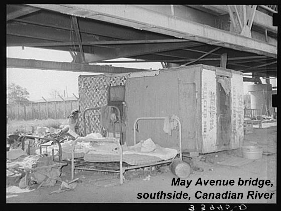 May Avenue bridge, southside, Canadian River