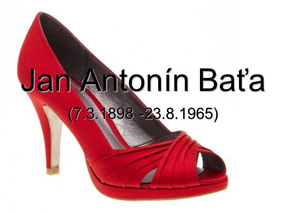 Jan Antonín Baťa (7.3.1898 -23.8.1965)