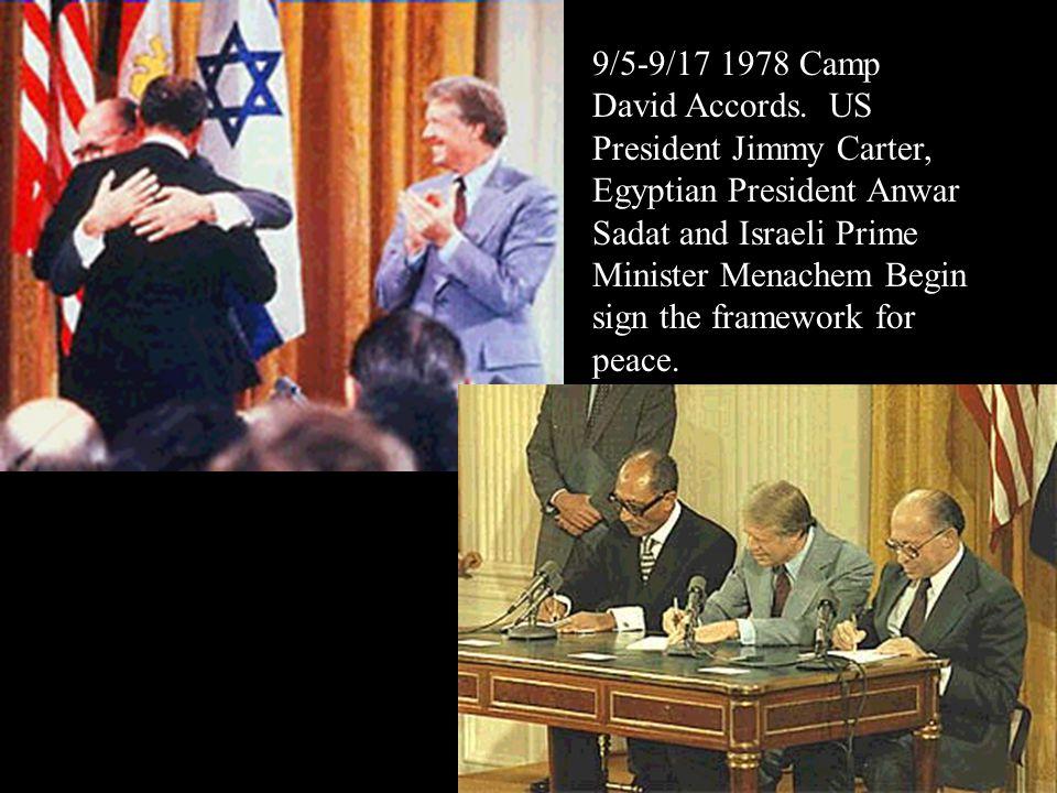 11/4/1979 Ayatollah Khomeini leads Iran. Iranian hostage crisis. Diplomats are held until 1981.