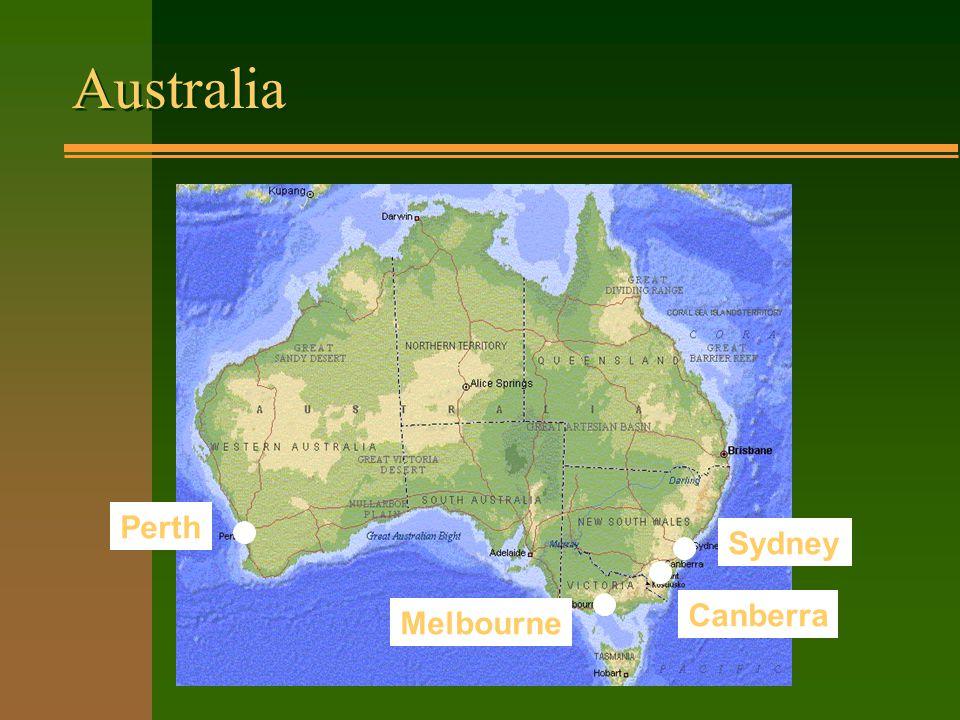 Australia Perth Sydney Melbourne Canberra