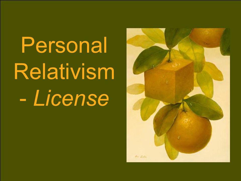 Personal Relativism - License