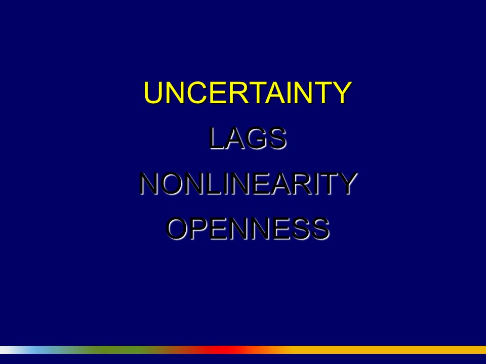 UNCERTAINTYLAGSNONLINEARITYOPENNESS