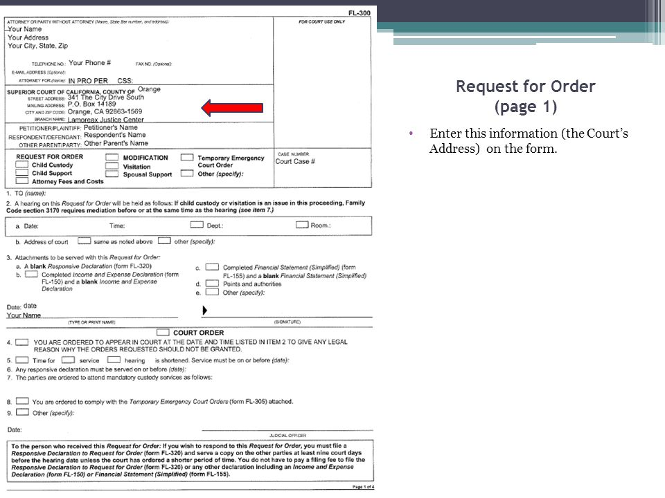 Child Custody and Visitation Attachment (page 1) Enter the Petitioner, Respondent and Case Number here.