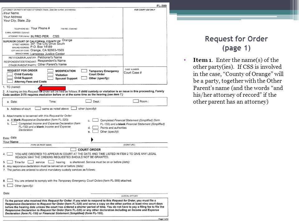 Child Custody and Visitation Attachment Item 2.a.
