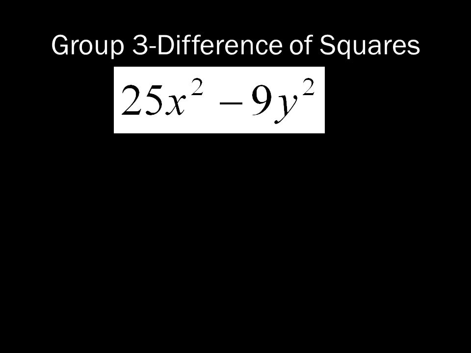 Group 3-Difference of Squares