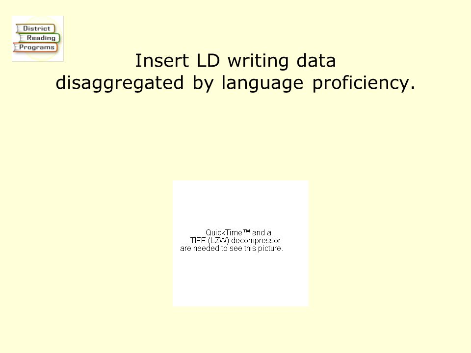 Insert LD writing data disaggregated by language proficiency.
