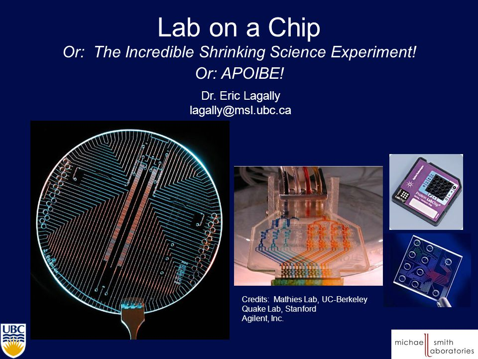 Lab on a Chip Or: The Incredible Shrinking Science Experiment.