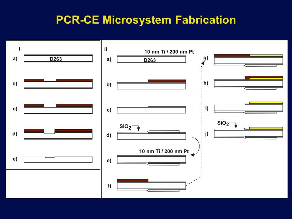 PCR-CE Microsystem Fabrication
