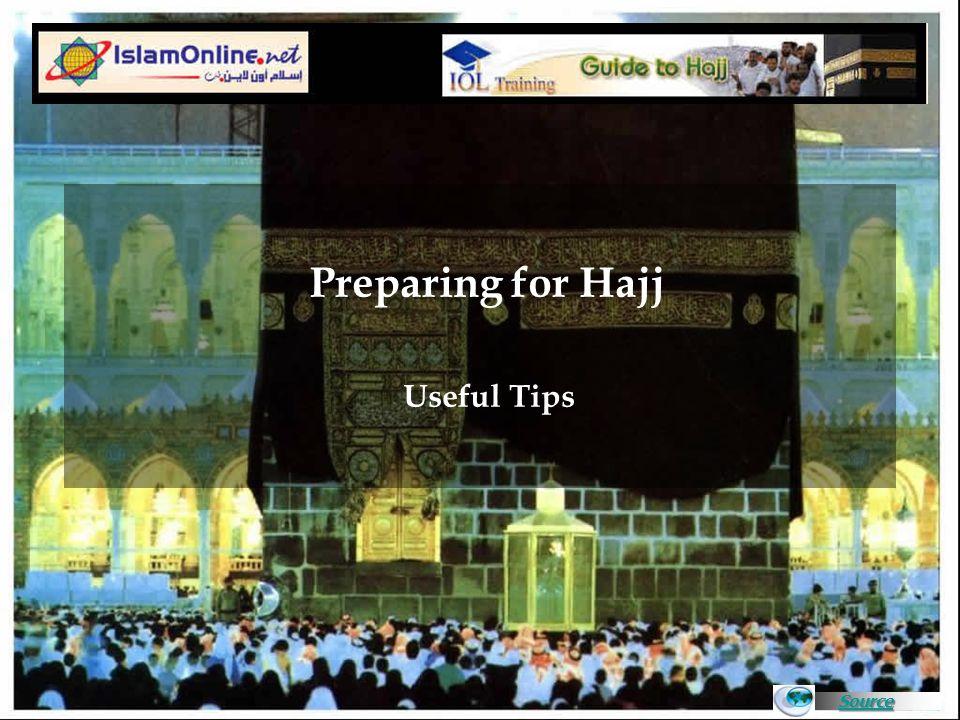 Source Preparing for Hajj 1.