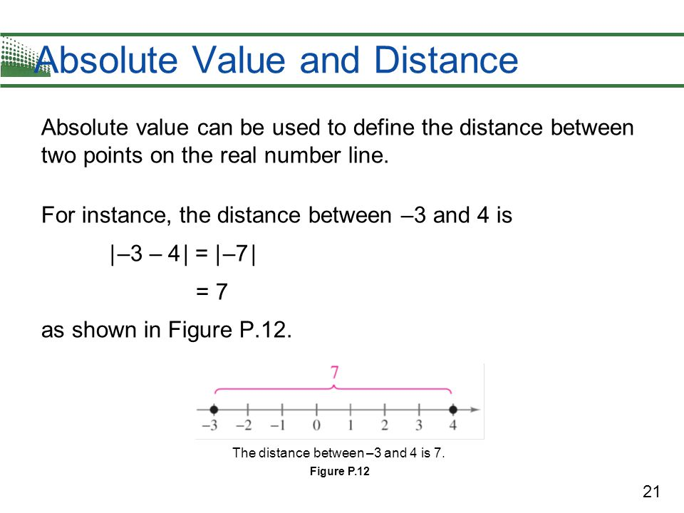 22 Absolute Value and Distance