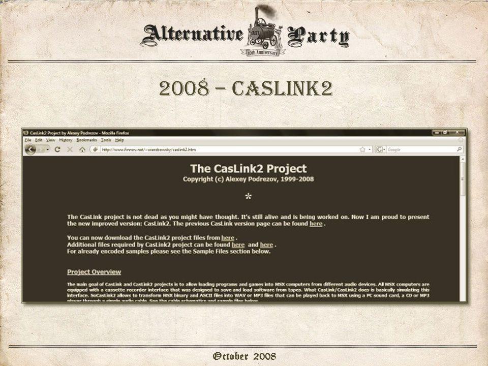 2008 – caslink2 October 2008