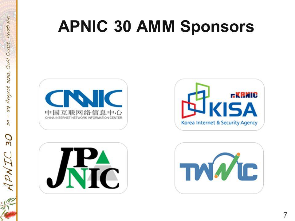 7 APNIC 30 AMM Sponsors