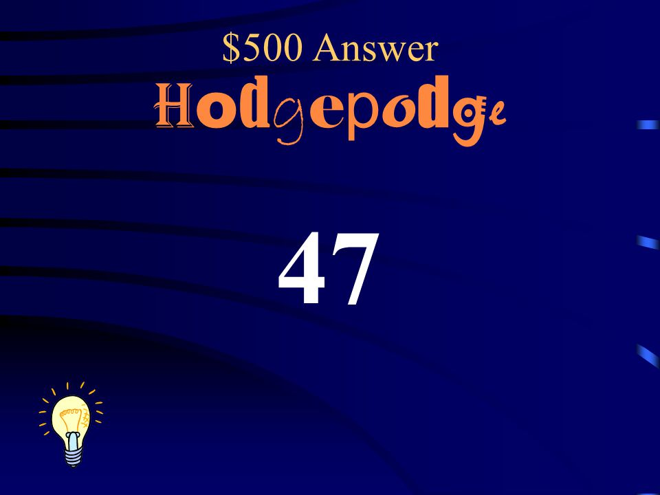 $500 Question H o d g e p o d g e 9 less than 8 times the quotient of 56/8 is what number?