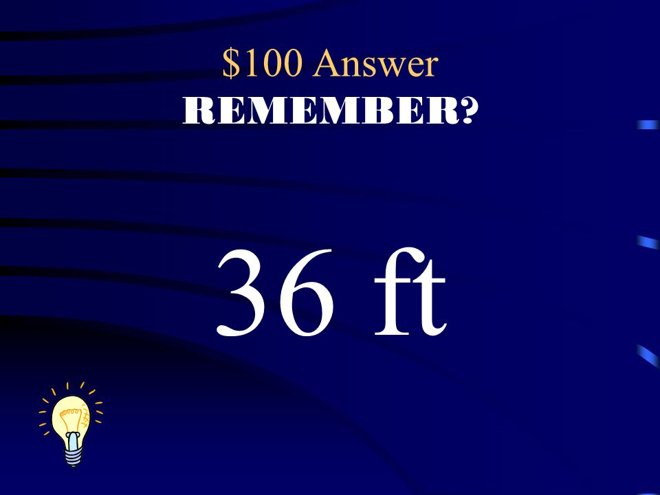 $100 Question REMEMBER? What is the perimeter? 6ft 12ft