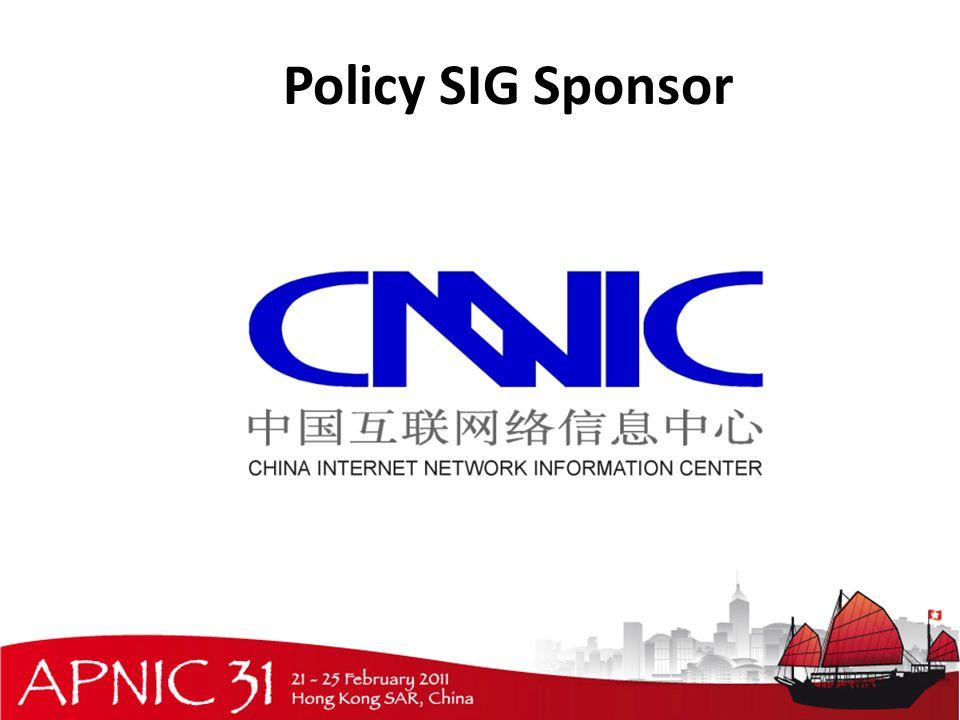 Policy SIG Sponsor