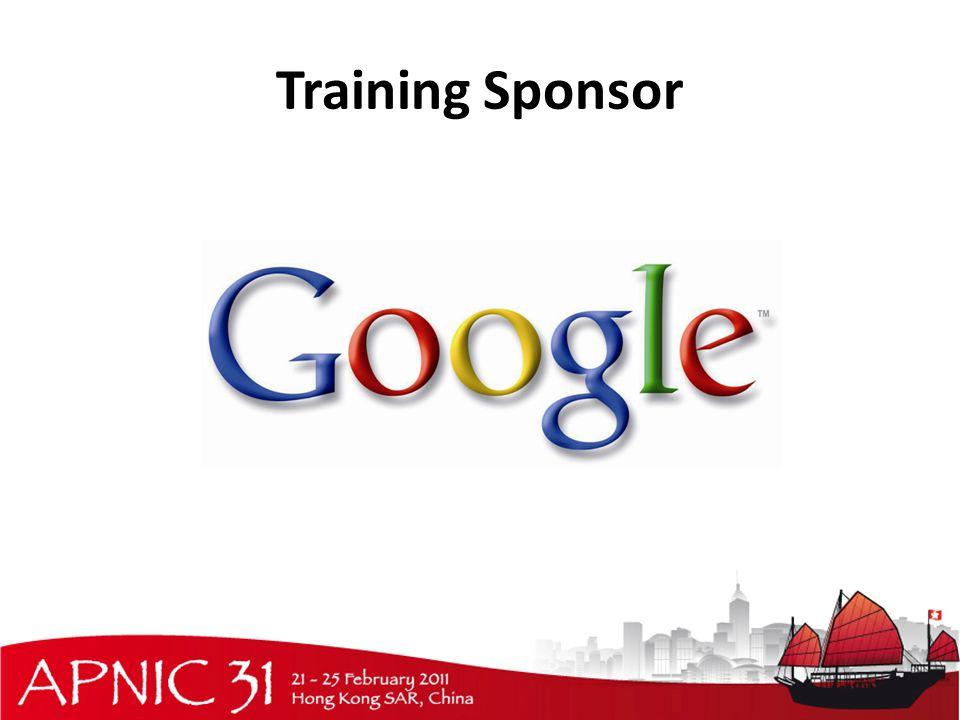 Training Sponsor