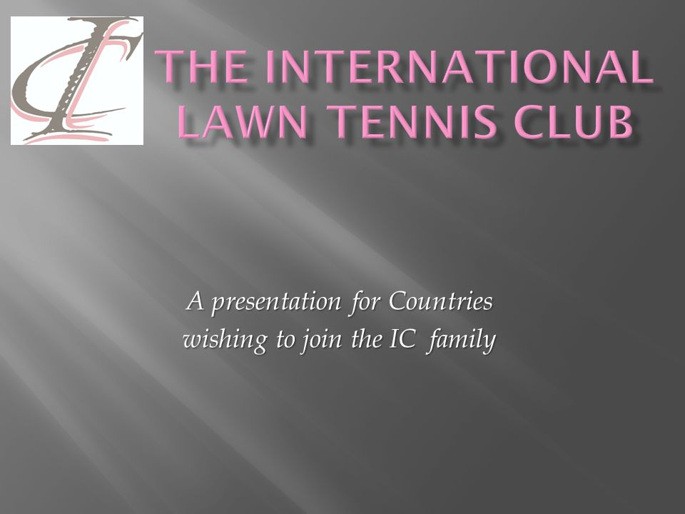 Another important responsibility of the Council is control of their website Another important responsibility of the Council is control of their website All countries' websites are initially directed to All countries' websites are initially directed towww.ictennis.net This encourages those visiting the site to see the IC's activities as a world-wide organisation