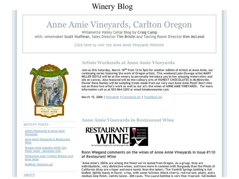 Winery Blog