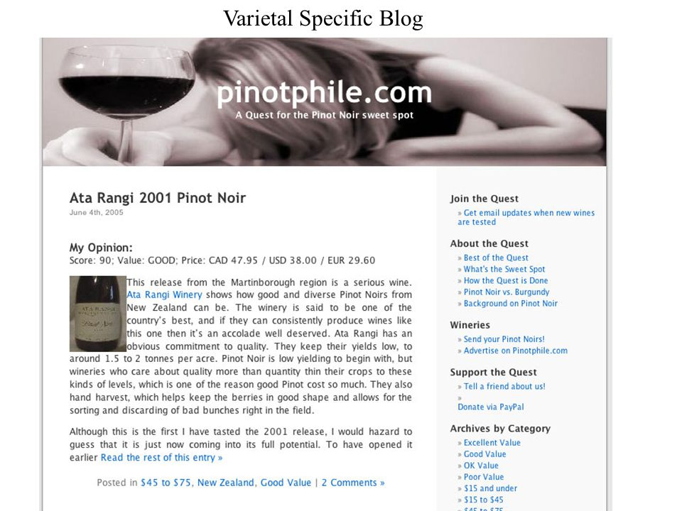 Varietal Specific Blog