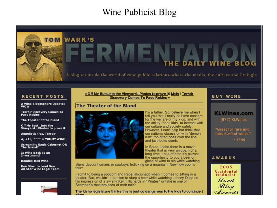 Wine Publicist Blog