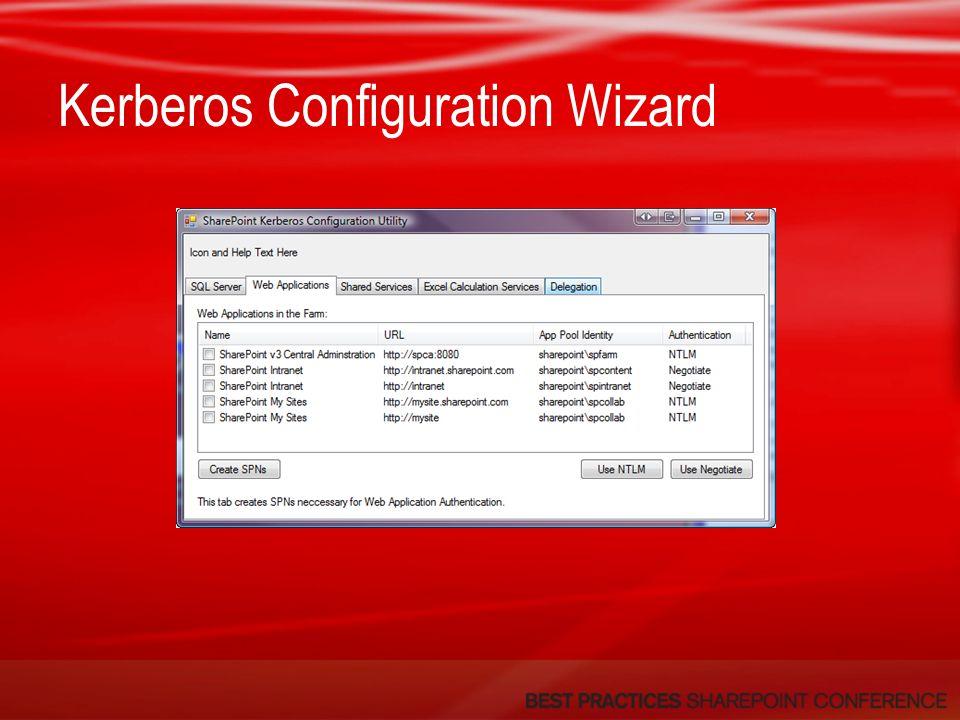 Kerberos Configuration Wizard