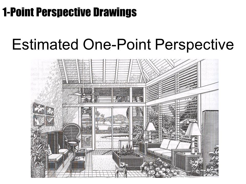 Estimated One-Point Perspective 1-Point Perspective Drawings