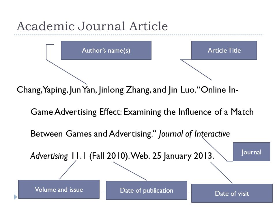 "Academic Journal Article Chang, Yaping, Jun Yan, Jinlong Zhang, and Jin Luo. ""Online In- Game Advertising Effect: Examining the Influence of a Match B"