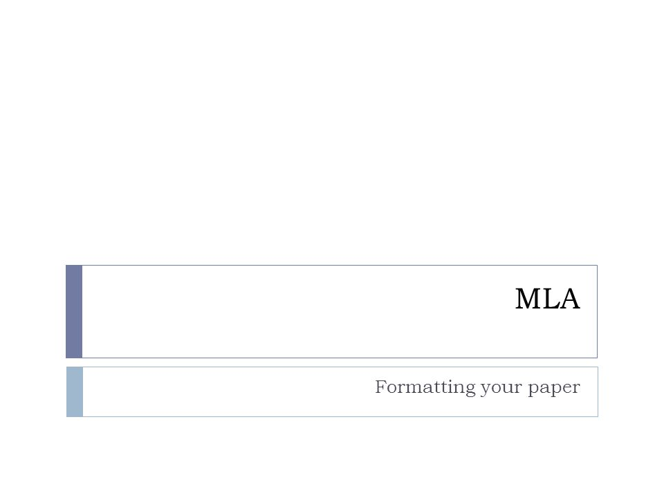 Your paper should look like: