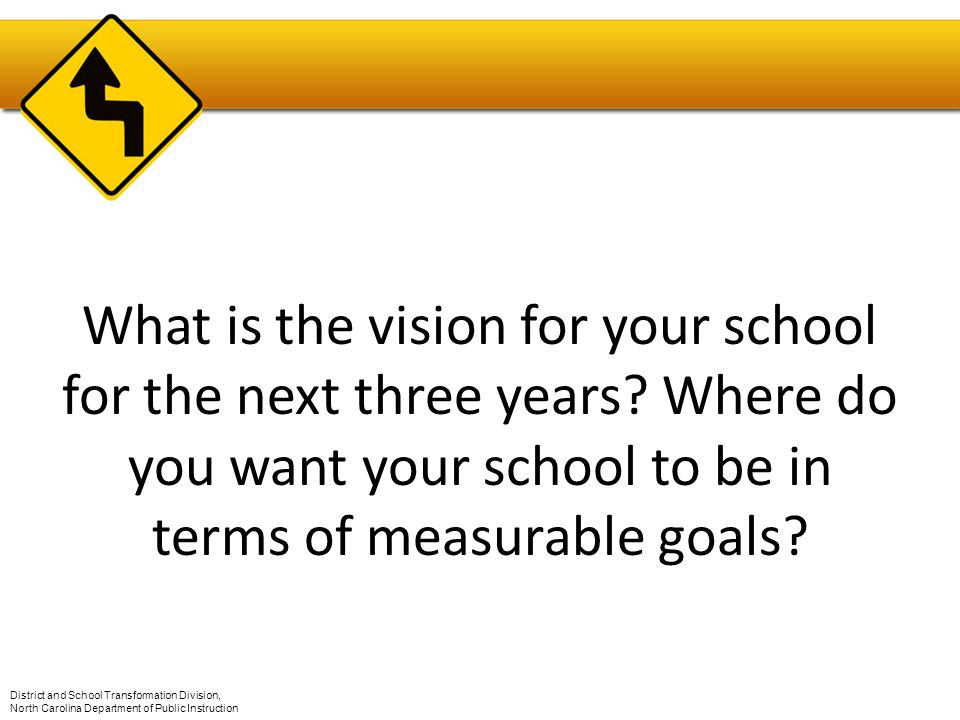 What is the vision for your school for the next three years.