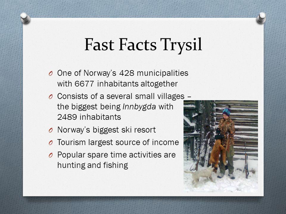 Places of Interest O Trysilfjellet O Røros O Oslo