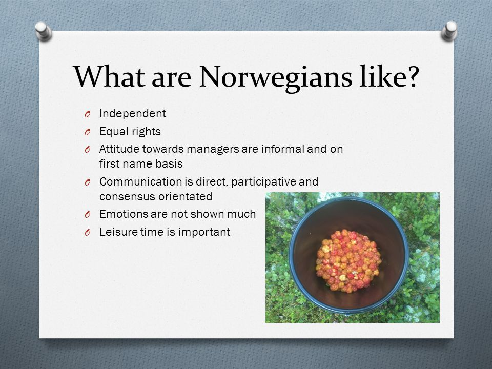 What are Norwegians like.