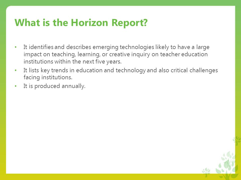 What is the Horizon Report.