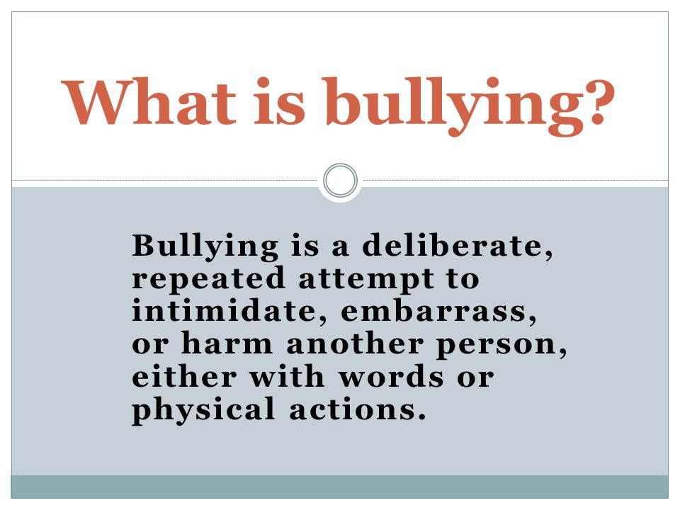 How can bullying be stopped?