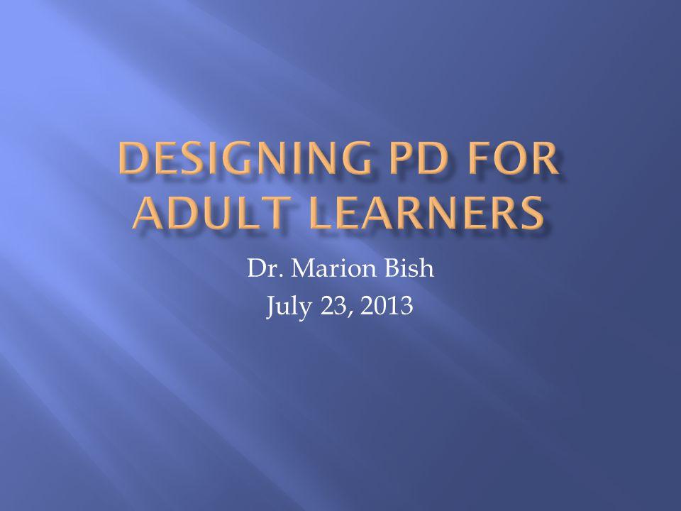 Dr. Marion Bish July 23, 2013