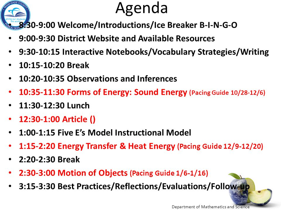 Agenda 8:30-9:00 Welcome/Introductions/Ice Breaker B-I-N-G-O 9:00-9:30 District Website and Available Resources 9:30-10:15 Interactive Notebooks/Vocab