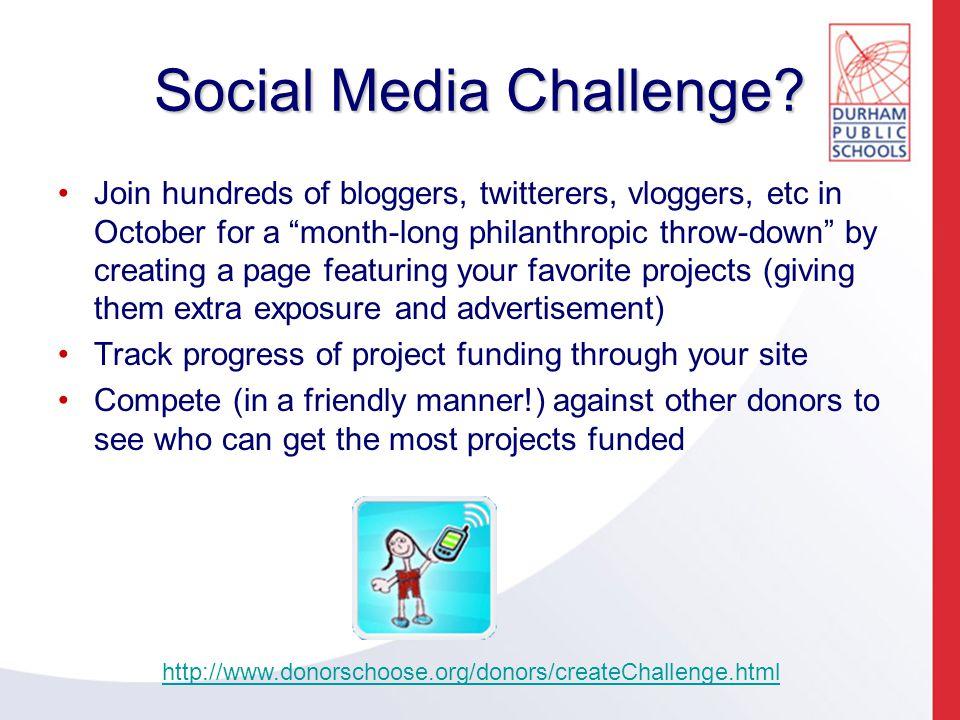 Social Media Challenge.