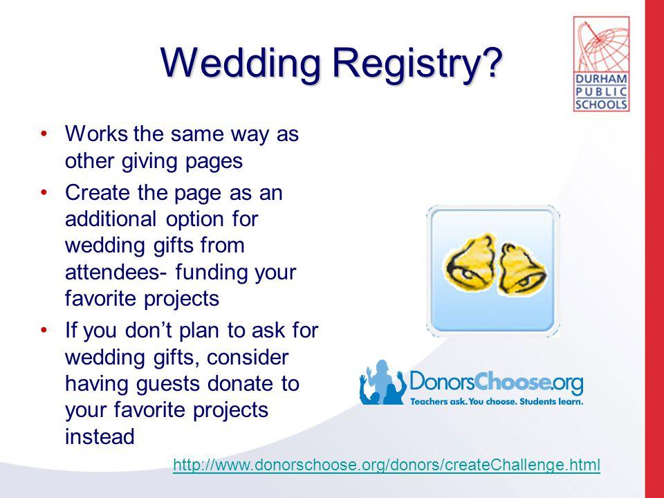 Wedding Registry.