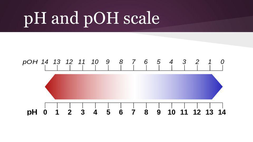 pH and pOH scale