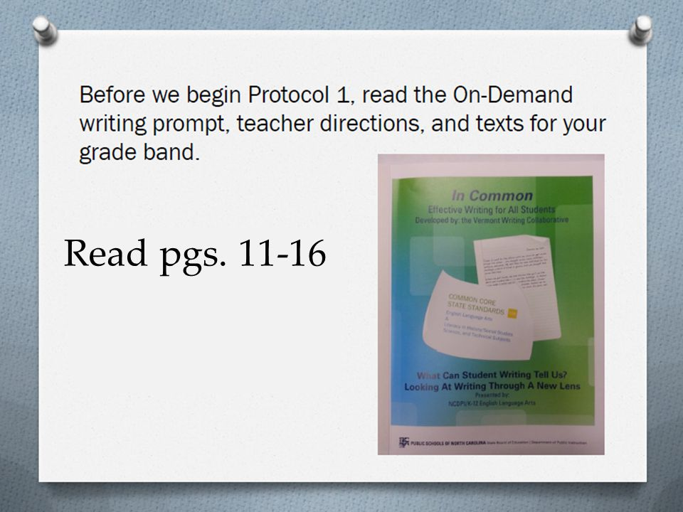 Read pgs. 11-16