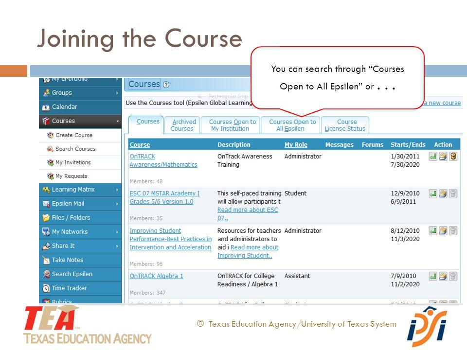 © Texas Education Agency/University of Texas System...