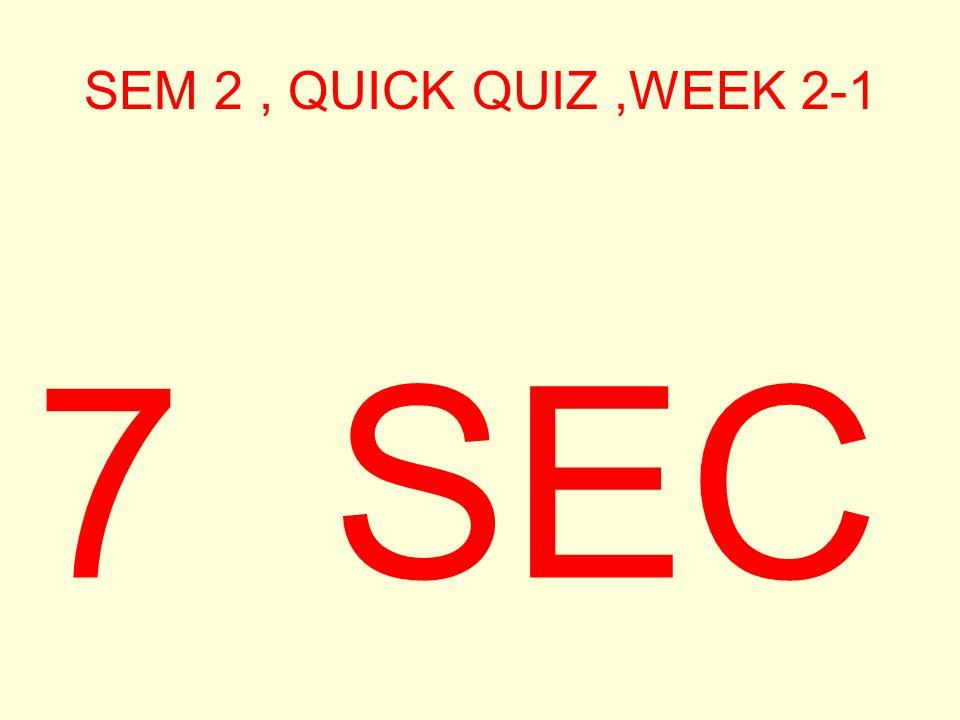 SEM 2, QUICK QUIZ,WEEK 2-1 8 SEC