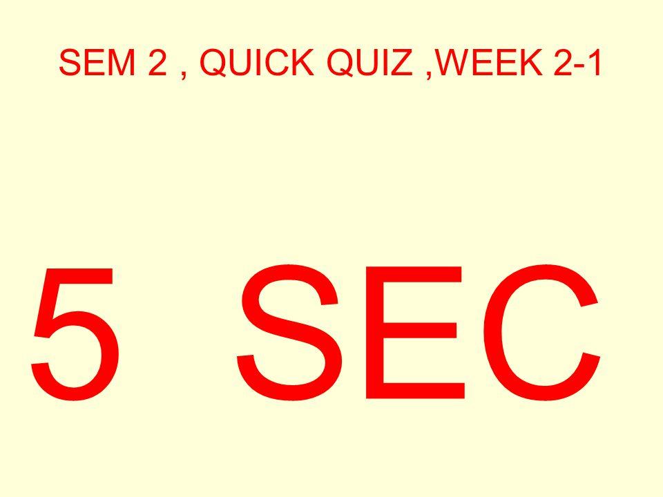 SEM 2, QUICK QUIZ,WEEK 2-1 6 SEC