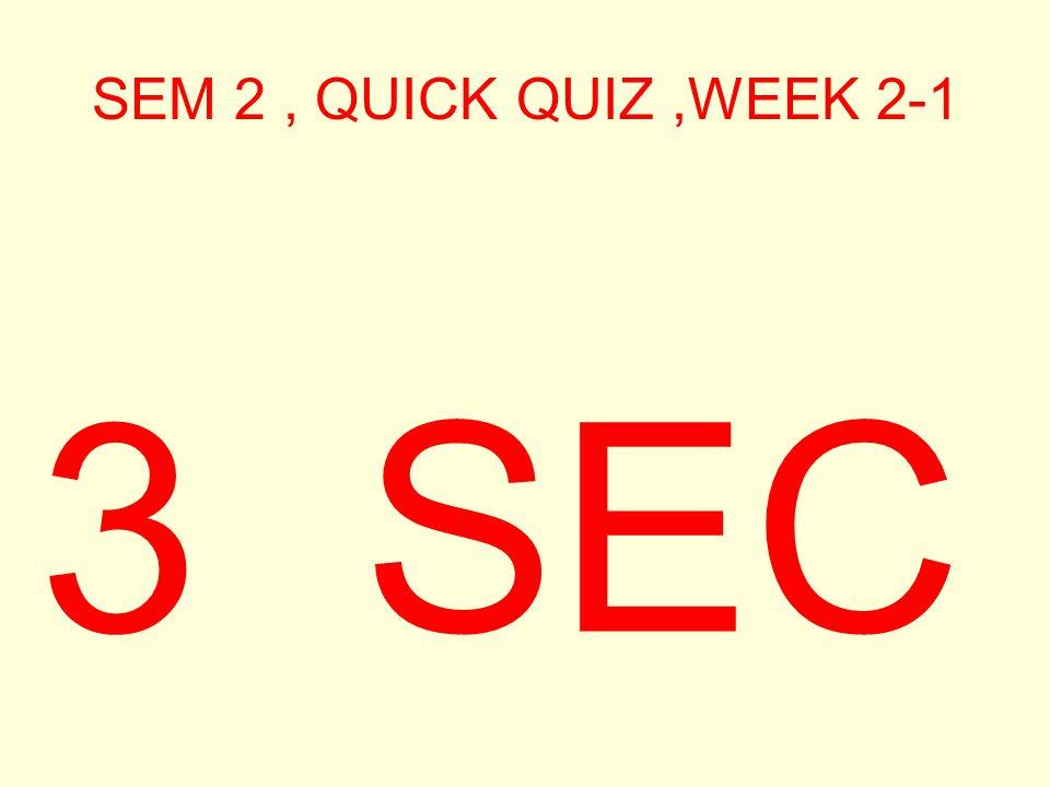 SEM 2, QUICK QUIZ,WEEK 2-1 4 SEC