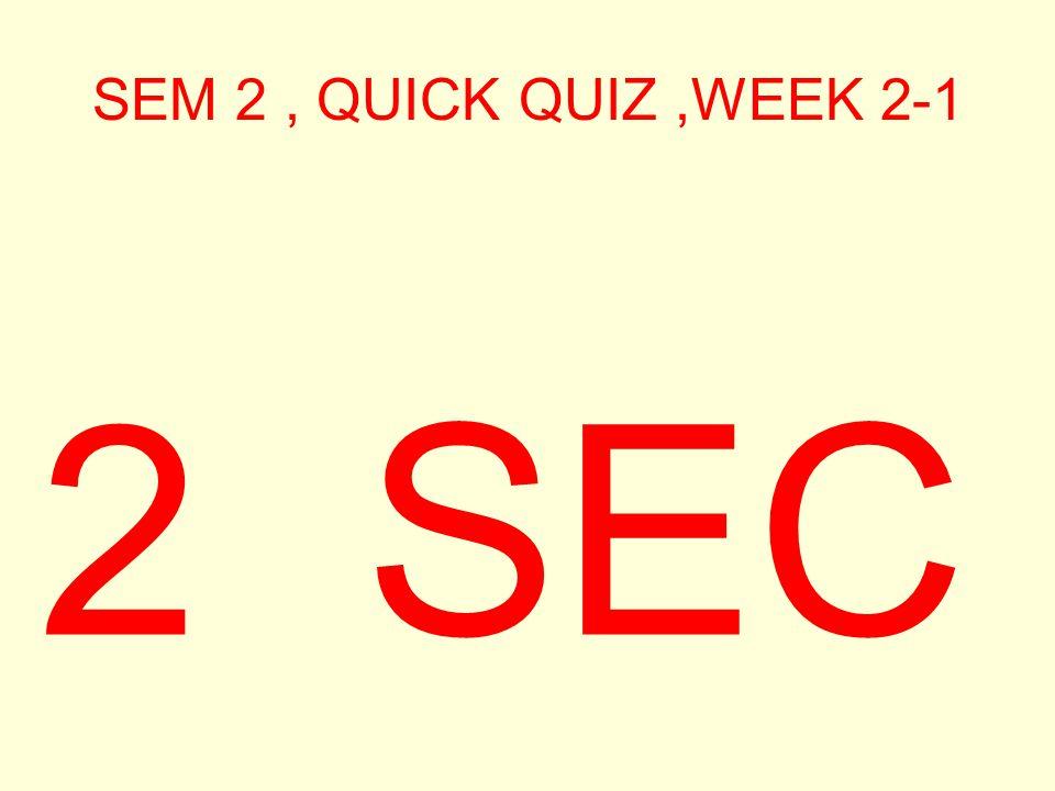 SEM 2, QUICK QUIZ,WEEK 2-1 3 SEC