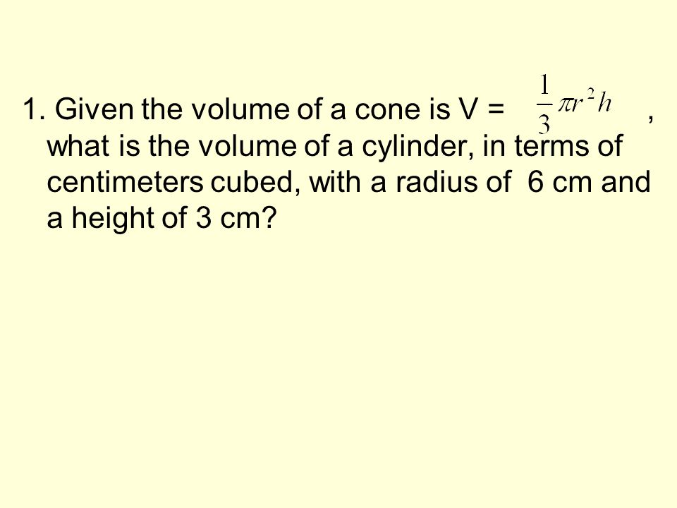 1. The radius of a circle is 21 inches. What is the circumference of the circle to the nearest inch ? Circumference C =2 π r, (π = 3.14) 2. The radius