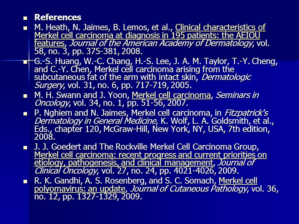 References References M. Heath, N. Jaimes, B.