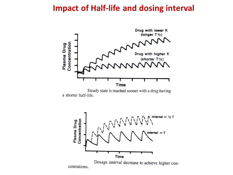 Impact of Half-life and dosing interval Half-Life on